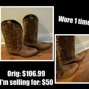Women's Tan Laredo Western Size 10 Boots